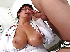 Hot uniform milf Marta old young oily hand-job