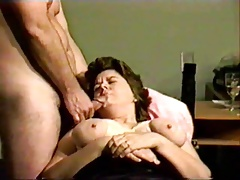 Hubby shoots his load on his wife's face.