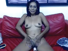 Horny 48 year old mom teasing on webcam (no sound)