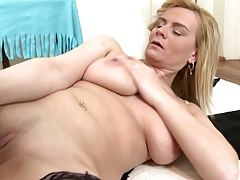 Busty natural mature mother with thirsty pussy