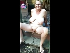 Chubby Mature Pissing