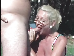 Granny fucks other man and Husband