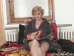 Sexy granny double penetration