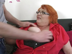 Huge breasted big mature mom sucking and fucking