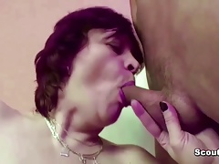 Step-Mom Seduce Step-Son to Fuck Her First Time