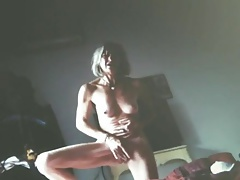 Mature cumming hard while standing