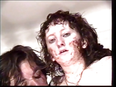 Hot anal sluts getting covered with food, fucked and creamed