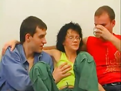 RUSSIAN MATURE THREESOME