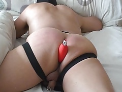 Mature Asian Sub Flogged - Red Arse