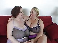 Two Big Tit BBWs Share Cock