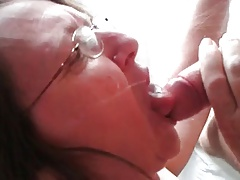 Mature and Granny Passion blowjob with glasses 506