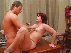Curvy Mature Office fuck