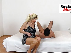 Old hairy pussy eating with dirty granny Hana