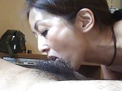 Amateur Japanese MILF POV BJ