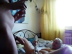 homemade, mature couple, butt-plug, spanking,toying