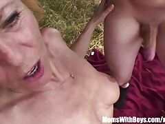 Blonde Mom With Two Boys Hardcore Outdoor Fuck