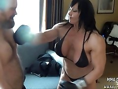 Mixed Boxing- Muscle Hot Girl Beatdowns