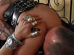 My sexy piercings - tattooed and pierced MILF sucking