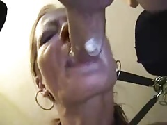 Amateur mature deep and wet blowjob
