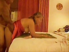 mature blonde fucks