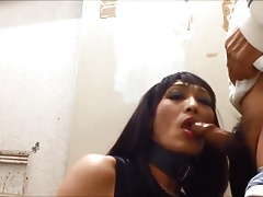 Mature Asian Crossdresser is a Blowjob Queen