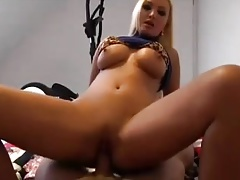 Heavenly German Blond MILF wears the perfect dress to fuck